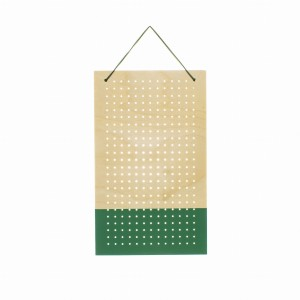 MAXI LONG holder organizer na kolczyki GREEN WOOD